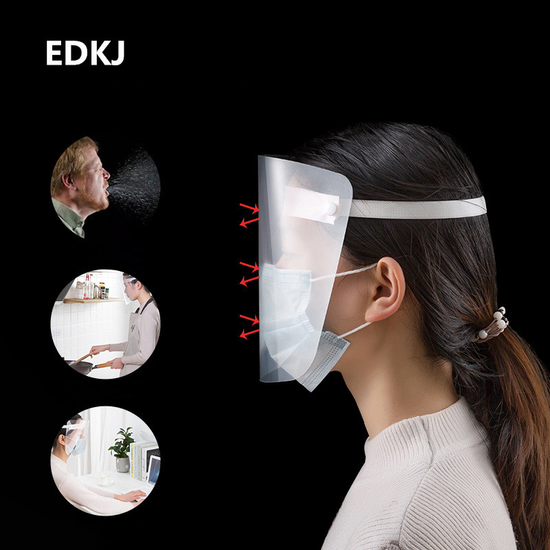 1Pcs Protective Face Shiled Full Face Mask Safety Splash-proof Face Shield Full Protection Transparent Hat