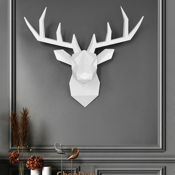 Wall Decor,3D Deer,Statue,Sculpture,Size 43*16*36cm,Home Decoration Accessories,Modern,Living Room Decorative,Figurine Miniature