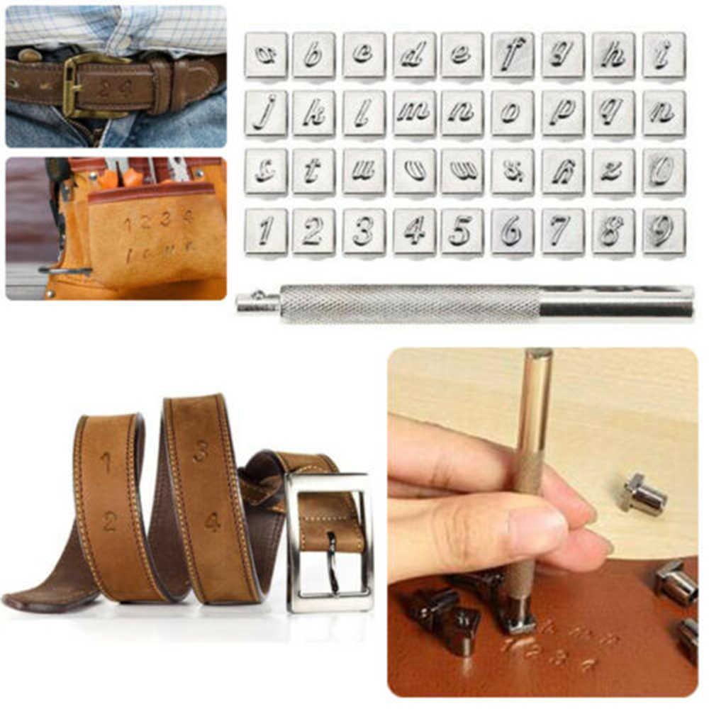 Популярные 36 шт., 5 мм, сплав, сталь, алфавит, номер, кожа, штамповка, сделай сам, инструмент для штамповки, рукоделие, специально для энтузиастов