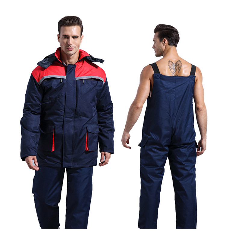 Winter Working Clothing Men Cold Storage Overalls Thick Warm Clothing Bib Cotton Suit Set Split Protective Safety Clothing (3)