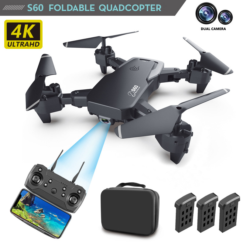 2020 drone with 4k hd camera remote control battery accessory kit drones rc quadcopter real-time transmission helicopter toys