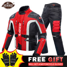DUHAN-Chaqueta de motocicleta resistente al frío traje de moto para otoño e invierno, equipo de protección y ropa de paseo