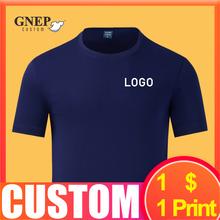 Estilo simples camiseta de cor sólida personalizado confortável e respirável camisa de fundo pode imprimir logotipo qualidade em torno do pescoço superior