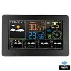 FanJu wifi цифровая метеостанция Время Календарь Температура Влажность скорость направления ветра 5 дней погода настенные часы