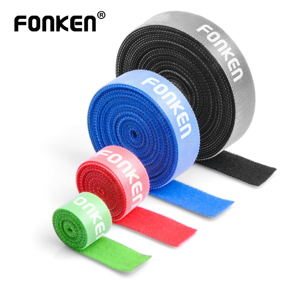 FONKEN Cable Organizer Multicolor Classification Cable Management USB Wire Holder For PC AUX HDMI 5m 3m 1m Wall Cord Protector