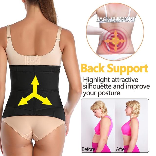 Unisex Hot Neoprene Body Shaper Waist Trainer Belly Control Belt Sauna Slimming Strap Fitness Sweat Shapewear for Fat Burner 3