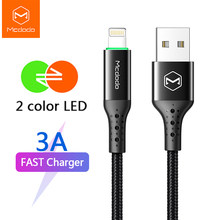 Mcdodo USB Cable 3A for Lightning IPhone 11 Pro Max XS XR X 8 IPad IPod Fast Charging IOS 13 Charger Auto Disconnect Data Cable(China)