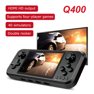Q400 Retro Handheld Console 4.0 Inch Screen Video Game Console HDMI TV output Support up to 4 players Retro Arch system Q400