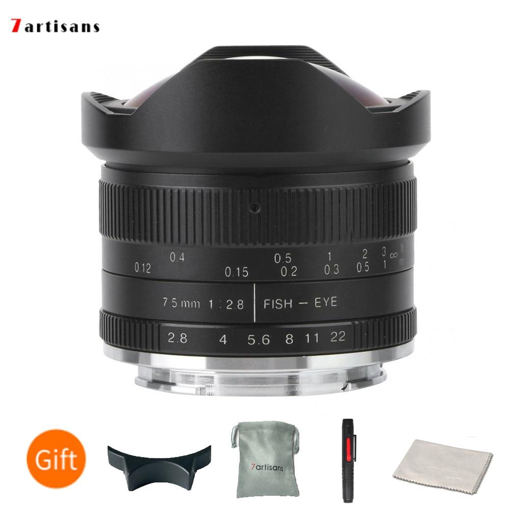 7,5mm f//2 7 artisans objetivamente 8 fisheye para Sony e