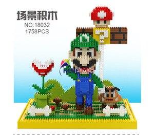 Image 5 - 2497Pcs 21801 21802 Super Mario Blok Diamant Micro Deeltje Ban Invoegen Plastic Bouwstenen Speelgoed Voor Kinderen Geschenken