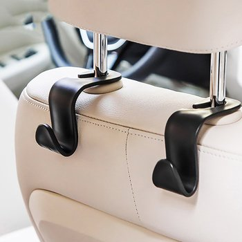 Car Storage Bag Seat Back Hook Car Hidden Headrest Hanger Wallet Shopping Bag Car Supplies Storage Hanger Hook image