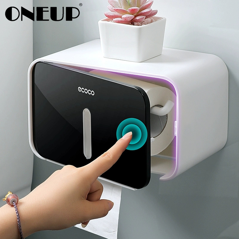 ONEUP Wall-mount Toilet Paper Holder Creative Foldable Hanger Tissue Box Home Waterproof Storage Box Portable Toilet Roll Holder
