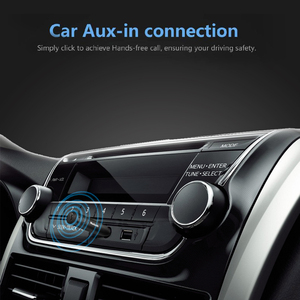 Image 5 - Kablosuz Bluetooth 5.0 araç kiti Mini 3.5mm Jack AUX Handsfree Stereo müzik ses alıcı adaptörü araba kulaklık hoparlör için Z2