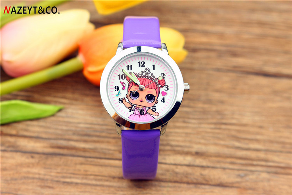 New Children's Cute Cartoon Little Girl Pattern Luminous Wrist Watch Girl Birthday Gift