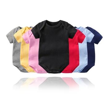 Summer Baby Boy Girl jednobarwna bawełna trójkąt Romper niemowlę maluch jednokolorowe jednoczęściowe ubrania wspinaczkowe tanie i dobre opinie partisig CN (pochodzenie) Lato Dziecko dla obu płci COTTON Aktywne W wieku 0-6m 7-12m 13-24m 210125 Stałe Z okrągłym kołnierzykiem
