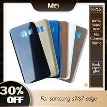 10 шт. OEM S7 крышка аккумулятора для Samsung Galaxy S7 G930F / S7 Edge G935F задняя крышка двери Задняя крышка стеклянный корпус