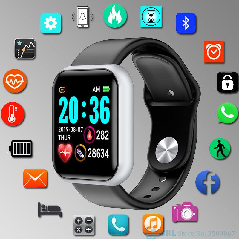 Умные часы Y68 для детей, Детские умные часы для девочек и мальчиков, электронные умные часы для студентов, детские спортивные умные часы в во...