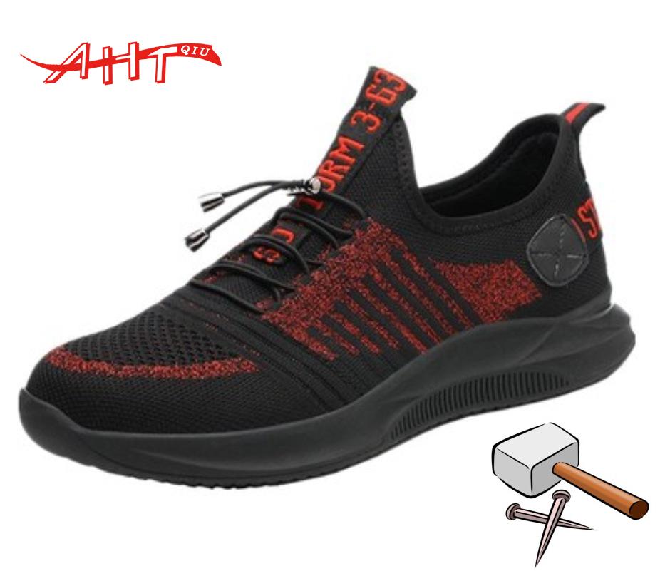 Men's Steel Toe Work Safety ShoesBreathable Work Boots Steel Toe mid-plate Anti-slip Anti-smashing Wilderness Survival Men Safet