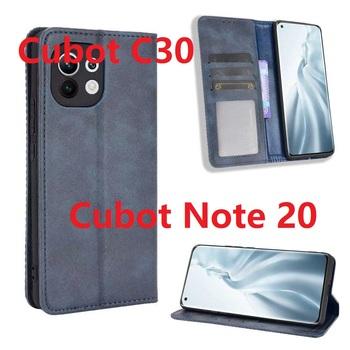 Dla Cubot C30 Case magnetyczny stojak na książki odwróć kartę portfel ochronny skórzany Cubot Note 20 Cover tanie i dobre opinie fcover CN (pochodzenie) Pokrowiec Book style Zwykły