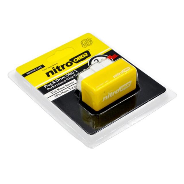 Risparmio di carburante EcoOBD2 per benzina benzina auto Eco Nitro OBD2 Chip Tuning Box Plug & Driver strumento diagnostico