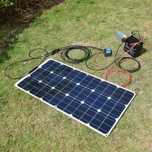 Image 5 - ערכת פנל סולארי 200w 100w 18v גמיש פנלים סולאריים מודול 20A בקר עבור חניך קרוון סירת רכב סוללה 12v אנרגיה chargin