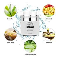 MELAO 2.5% Retinol Moisturizer Cream Hyaluronic Acid Anti Aging Reduces Wrinkles Fine Lines Day And Night Retinol Cream 50ml 5