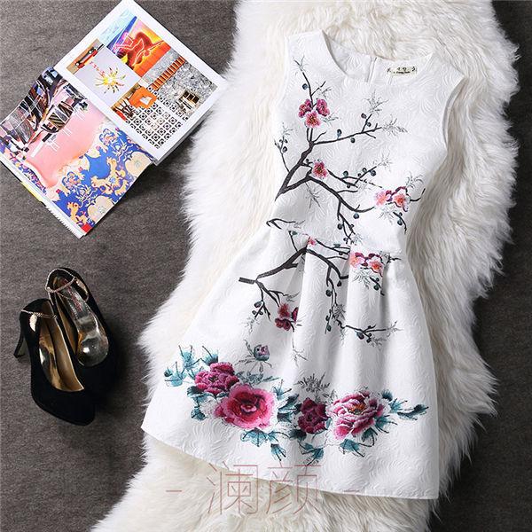 Vintage Print Women Dresses 1