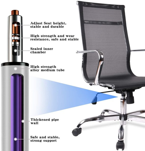 Home Office Chair, High Back Desk Chair Ergonomic Mesh Adjustable Task Computer Chairs with Rolling Casters 2