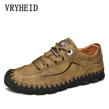 VRYHEID 2019 Spring and autumn Genuine Leather Casual Shoes Men Loafers Men Driving Shoes Soft Moccasins Flats Slip on Shoes Men zenvbnv 2017 new slip on casual men loafers spring and autumn mens moccasins shoes genuine leather men s flats pigskin shoes