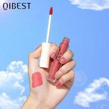 Новинка, водостойкий блеск для губ QIBEST, матовая губная помада, 13 цветов, тинт для губ, блеск для губ, водостойкая стойкая губная помада