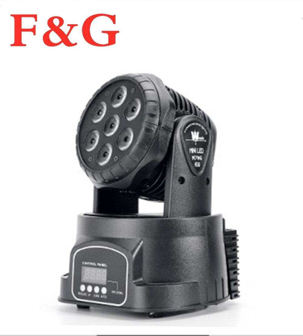 F&G2 Unids/lote LED Cabeza Móvil Wash 7x12 W Rgbw Quad Con La Avanzada 14 Canales DMX512 Para DJ Espectáculo De Noche Envío Rápi
