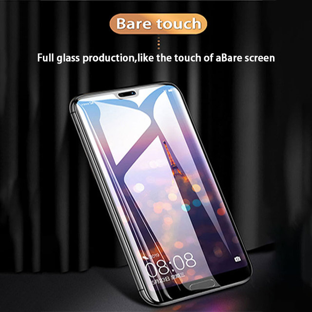 30D full cover protective glass on for huawei p30 p20 lite pro tempered screen protector