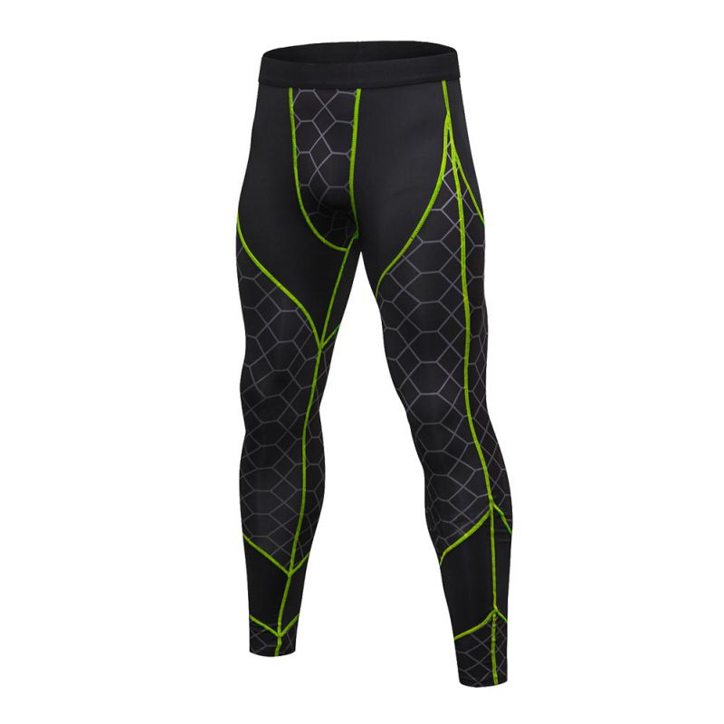 Fashion Men Quick Dry High Stretch Pants Men Tights Leggings Fitness Elastic Trousers 2018