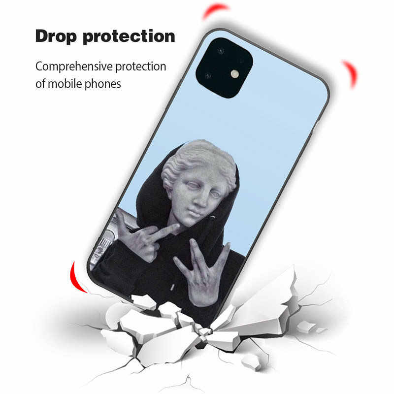Lovebay For iPhone 11 Case Art Abstract Phone Case For iPhone 11 Pro X XR XS Max 8 7 6 6s Plus 5 SE Soft TPU Silicone Back Cover