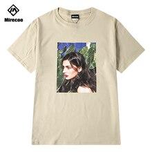 Mirecoo Men T shirts Cotton Beauty Hip Hop Printed Funny T-shirts Harajuku Style Fashion High Street Clothes Top Tees