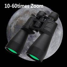 Binoculares profesionales con Zoom 10-380x100, telescopio potente de largo alcance, HD, impermeable, BAK4, Gran Aumento, caza al aire libre