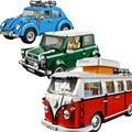 Auto Ziegel Bus Kompatibel 10220 10252 10242 Modell Bausteine Jungen Mädchen Geburtstag Geschenke Spielzeug für Kinder