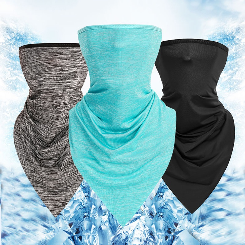 3 Pcs Outdoor Bandanas Suit Summer Anti-sweat Cycling Face Cover Breathable Headwear Caps Running Fishing Sports Scarf Mask