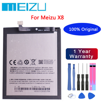 Meizu High Quality Battery 100% Original 3300mAh BA852 Battery For Meizu X8 Mobile Phone batteries+Free tools meizu 100% original 3060mah bt65m battery for meizu mx6 mobile phone battery with tracking number