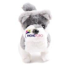 2 pçs/set Quente Elétrica Robô de Pelúcia Macia Brinquedos Do Cão Husky Pode Casca de Andar Para A Frente e Para Trás de Simulação Brinquedos para As Crianças Presentes