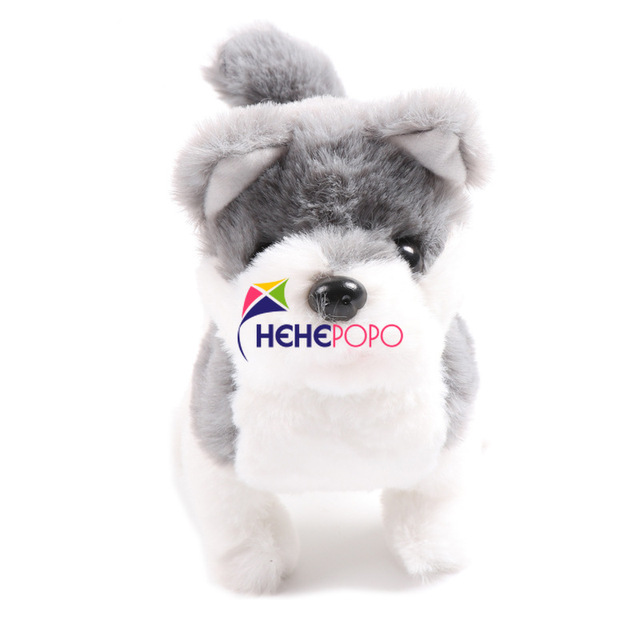2pcs / Set Hot Electric Soft Plush Robot Dog Husky Toys Can Bark Walking Forward and Backward Simulation Toys for Children Gifts