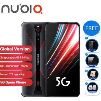 Перейти на Алиэкспресс и купить Глобальная версия Nubia Red Magic 5G, игровой смартфон 12 Гб 256 ГБ/8 ГБ 128 ГБ 6,65 дюймSnapdragon 865 NFC Redmagic 5G