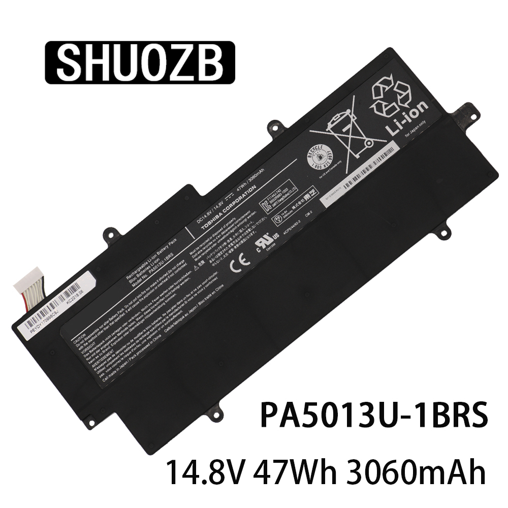 New PA5013U-1BRS Laptop Battery For Toshiba Portege Z835 Z830 Z930 Z935 Ultrabook Series PA5013 PA5013U 14.8V 47Wh 3.06Ah SHUOZB