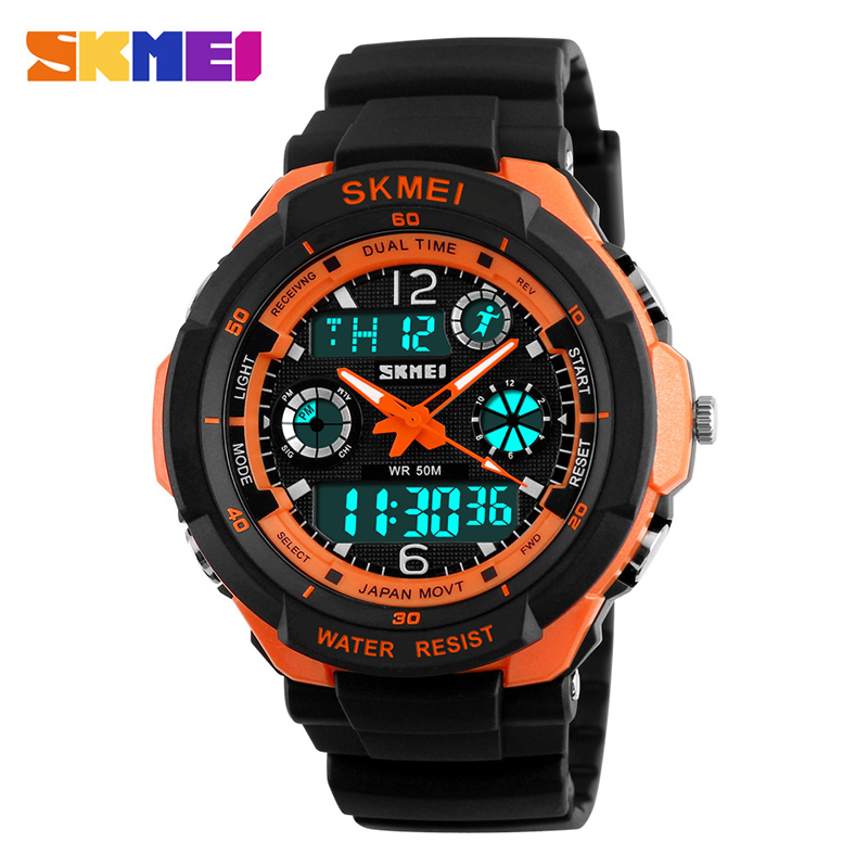 SKMEI Digital Kids Watches LED Dual Display Sport Waterproof Children Watches Anti-Shock Boy Girl Wristwatches Relogio Masculino
