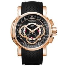 2020 ريف النمر/RT أفضل العلامة التجارية مصمم الساعات الرياضية الرجال ساعة كواريز ذهبية وردية اللون كرونوغراف مع تاريخ reloj hombre RGA3063