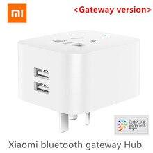 الأصلي شاومي Mijia المزدوج USB الذكية بلوتوث بوابة الذكية واي فاي المقبس العمل شاومي المنزل الذكي Mijia App