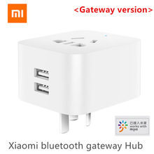Оригинальный умный шлюз Xiaomi Mijia с двумя USB и поддержкой bluetooth, умная розетка с Wi Fi, работает с приложением Xiaomi Smart Home Mijia