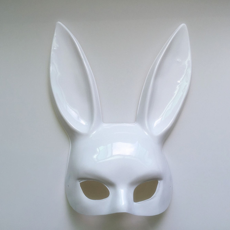 Image 4 - Mark Black Women Girl Sexy Rabbit Ears Mask Cute Bunny Long Ears Bondage Mask Halloween Masquerade Party Cosplay Costume Props-in Party Masks from Home & Garden