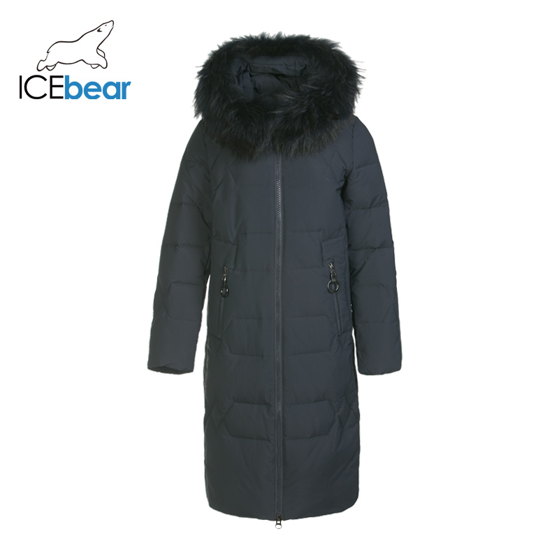 ICEbear 2019 New Winter Long Women's Down Jacket Fashion Warm Ladies Jacket Brand Women's Clothing GN318302P