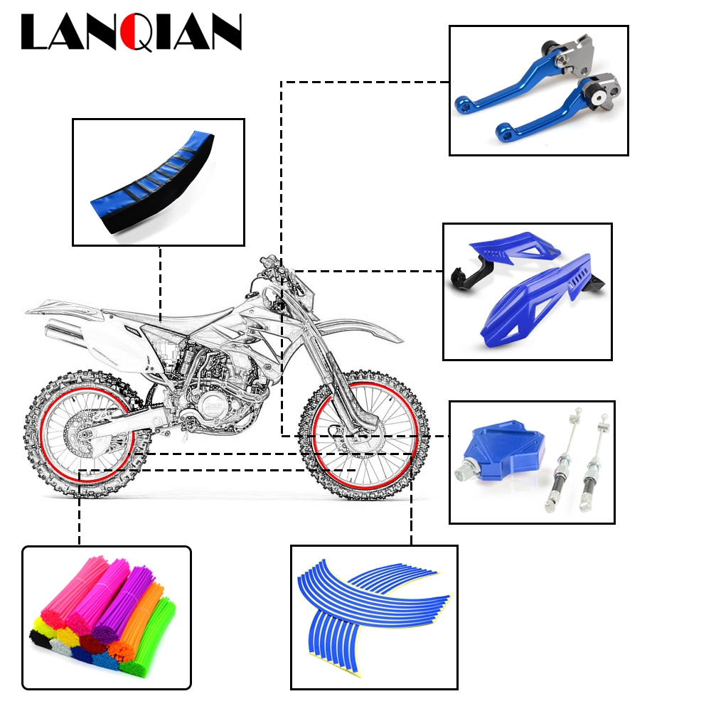 Motorcycle Accessories Brake Clutch Lever Handlebar For <font><b>Yamaha</b></font> YZ WR TTR <font><b>XT</b></font> DT 80 85 125 230 250 426 450 <font><b>600</b></font> F FX X <font><b>Parts</b></font> image